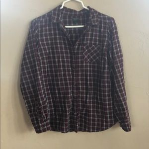 Roots Canada Flannel Top